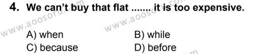 İngilizce 7 Dersi 2011 - 2012 Yılı 3. Dönem Sınavı 4. Soru