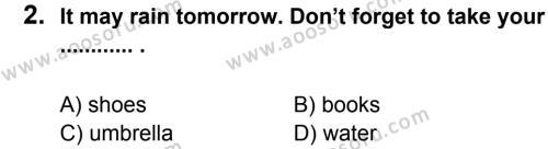 İngilizce 7 Dersi 2012 - 2013 Yılı 1. Dönem Sınavı 2. Soru