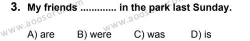 İngilizce 7 Dersi 2012 - 2013 Yılı 3. Dönem Sınavı 3. Soru