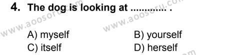 İngilizce 7 Dersi 2012 - 2013 Yılı 3. Dönem Sınavı 4. Soru