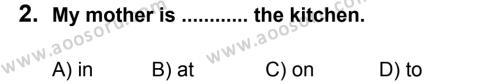 İngilizce 7 Dersi 2013 - 2014 Yılı 2. Dönem Sınavı 2. Soru