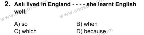 İngilizce 7 Dersi 2014 - 2015 Yılı 3. Dönem Sınavı 2. Soru