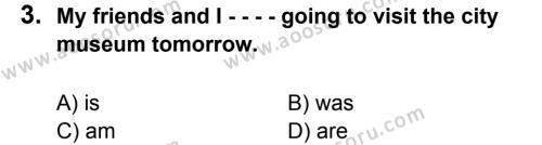 İngilizce 7 Dersi 2016 - 2017 Yılı 3. Dönem Sınavı 3. Soru