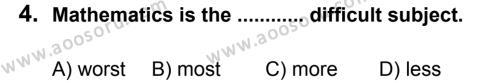 İngilizce 8 Dersi 2012 - 2013 Yılı 1. Dönem Sınavı 4. Soru