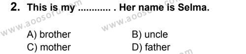 İngilizce 8 Dersi 2012 - 2013 Yılı 3. Dönem Sınavı 2. Soru