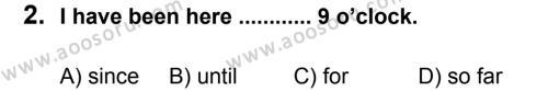 İngilizce 8 Dersi 2013 - 2014 Yılı 1. Dönem Sınavı 2. Soru