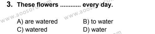 İngilizce 8 Dersi 2013 - 2014 Yılı 3. Dönem Sınavı 3. Soru
