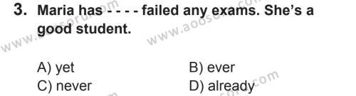 İngilizce 8 Dersi 2017 - 2018 Yılı 2. Dönem Sınavı 3. Soru