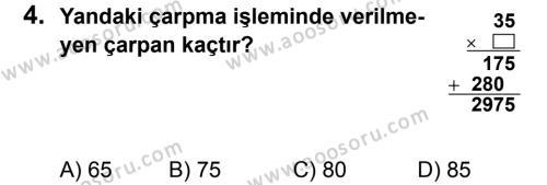 Matematik 5 Dersi 2012 - 2013 Yılı 2. Dönem Sınavı 4. Soru
