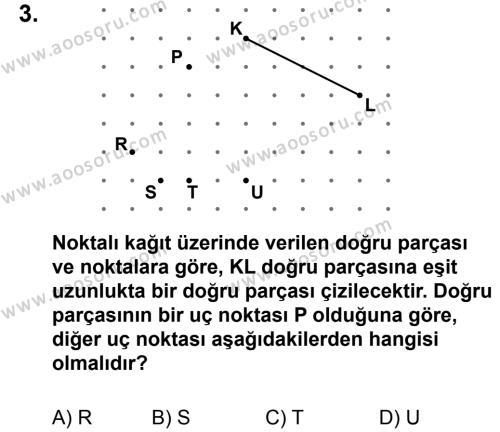 Matematik 5 Dersi 2013 - 2014 Yılı 3. Dönem Sınavı 3. Soru