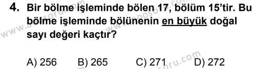 Matematik 5 Dersi 2013 - 2014 Yılı 3. Dönem Sınavı 4. Soru