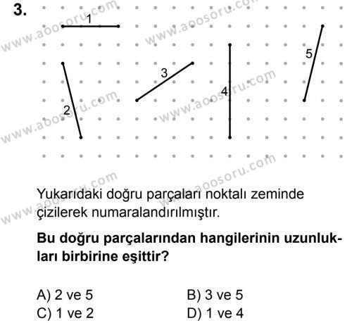 Matematik 5 Dersi 2015 - 2016 Yılı 3. Dönem Sınavı 3. Soru