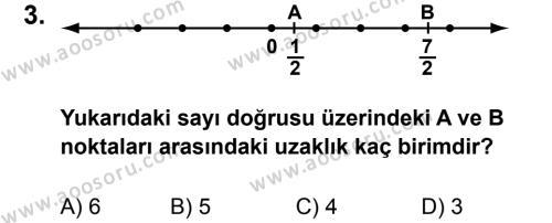 Matematik 6 Dersi 2011 - 2012 Yılı 2. Dönem Sınavı 3. Soru