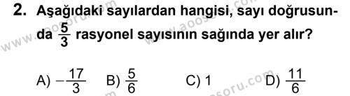 Matematik 7 Dersi 2013 - 2014 Yılı 2. Dönem Sınavı 2. Soru