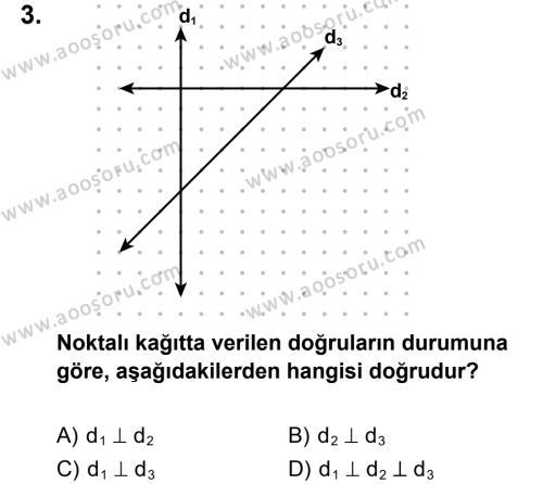 Matematik 7 Dersi 2014 - 2015 Yılı 2. Dönem Sınavı 3. Soru
