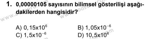 Matematik 8 Dersi 2013 - 2014 Yılı 1. Dönem Sınavı 1. Soru