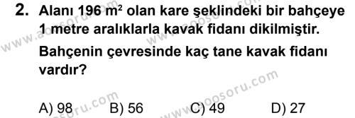 Matematik 8 Dersi 2013 - 2014 Yılı 2. Dönem Sınavı 2. Soru