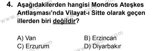 T.C. İnklap Tarihi ve Atatürkçülük 8 Dersi 2011 - 2012 Yılı 3. Dönem Sınavı 4. Soru