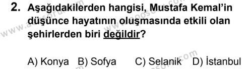 T.C. İnklap Tarihi ve Atatürkçülük 8 Dersi 2014 - 2015 Yılı 3. Dönem Sınavı 2. Soru