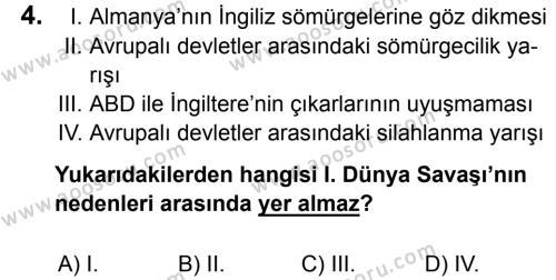 T.C. İnklap Tarihi ve Atatürkçülük 8 Dersi 2016 - 2017 Yılı 2. Dönem Sınavı 4. Soru