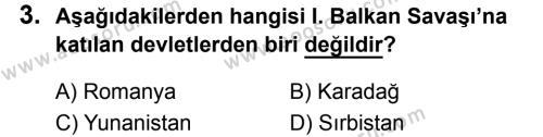 T.C. İnklap Tarihi ve Atatürkçülük 8 Dersi 2019 - 2020 Yılı 2. Dönem Sınavı 3. Soru