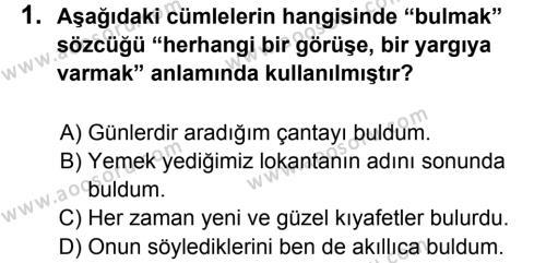 Türkçe 5 Dersi 2012 - 2013 Yılı 3. Dönem Sınavı 1. Soru