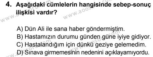 Türkçe 5 Dersi 2013 - 2014 Yılı 1. Dönem Sınavı 4. Soru