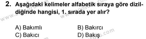 Türkçe 5 Dersi 2013 - 2014 Yılı 3. Dönem Sınavı 2. Soru