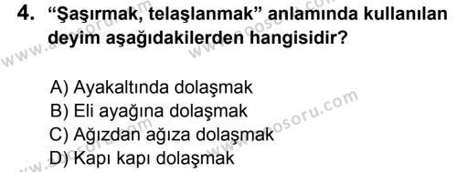 Türkçe 5 Dersi 2013 - 2014 Yılı 3. Dönem Sınavı 4. Soru