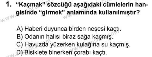 Türkçe 5 Dersi 2014 - 2015 Yılı 1. Dönem Sınavı 1. Soru