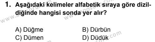 Türkçe 5 Dersi 2014 - 2015 Yılı 3. Dönem Sınavı 1. Soru