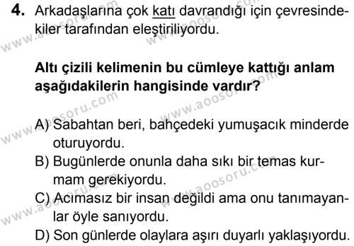 Türkçe 5 Dersi 2015 - 2016 Yılı 3. Dönem Sınavı 4. Soru