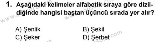 Türkçe 5 Dersi 2016 - 2017 Yılı 2. Dönem Sınavı 1. Soru