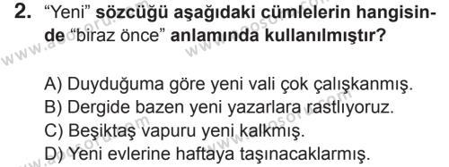 Türkçe 5 Dersi 2017 - 2018 Yılı 2. Dönem Sınavı 2. Soru
