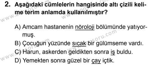 Türkçe 5 Dersi 2017 - 2018 Yılı 3. Dönem Sınavı 2. Soru