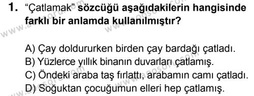 Türkçe 6 Dersi 2016 - 2017 Yılı 3. Dönem Sınavı 1. Soru
