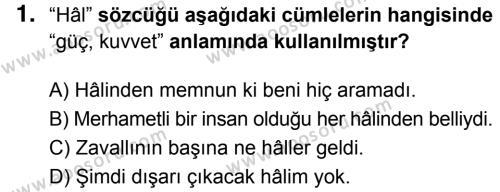 Türkçe 6 Dersi 2018 - 2019 Yılı 3. Dönem Sınavı 1. Soru