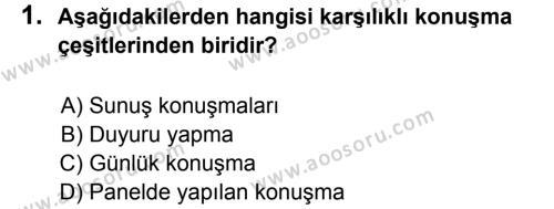 Türkçe 7 Dersi 2011 - 2012 Yılı 2. Dönem Sınavı 1. Soru