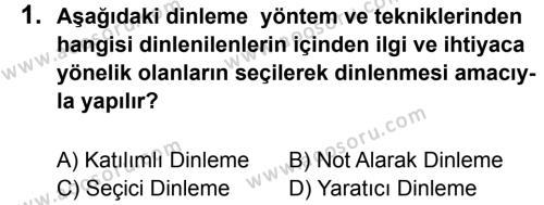 Türkçe 7 Dersi 2011 - 2012 Yılı 3. Dönem Sınavı 1. Soru