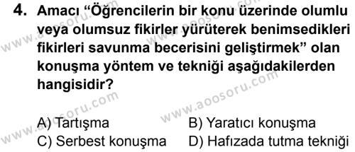 Türkçe 7 Dersi 2013 - 2014 Yılı 2. Dönem Sınavı 4. Soru