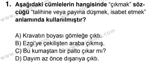 Türkçe 7 Dersi 2017 - 2018 Yılı 1. Dönem Sınavı 1. Soru