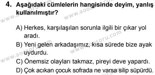 Türkçe 7 Dersi 2017 - 2018 Yılı 3. Dönem Sınavı 4. Soru