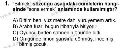 Türkçe 7 Dersi 2018 - 2019 Yılı 3. Dönem Sınavı 1. Soru