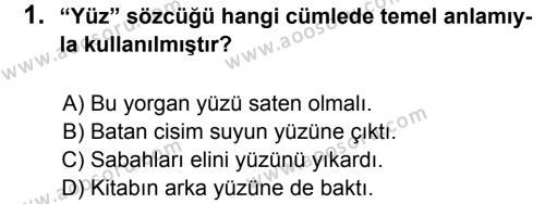 Türkçe 8 Dersi 2011 - 2012 Yılı 2. Dönem Sınavı 1. Soru