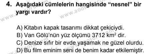 Türkçe 8 Dersi 2012 - 2013 Yılı 2. Dönem Sınavı 4. Soru